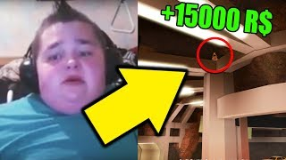 kid wins 15,000 robux by cheating in jailbreak .. (roblox)