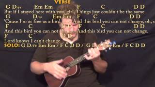 Freebird - Ukulele Cover Lesson with Chords/Lyrics