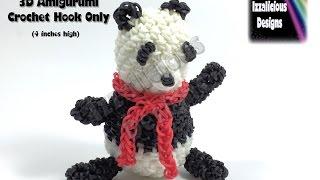 Веселка Loom 3D Панда амігурумі/Loomigurumi фігура/лялька/іграшки - гачком тільки Loomless (верстат-менше)