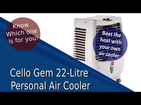 Cello Gem 22-Litre Personal Air Cooler - Features & Review
