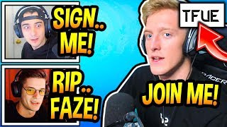 Streamers *MIND-BLOWN* After Tfue *CREATING* His Own ORG! (Team Tfue) Fortnite Moments