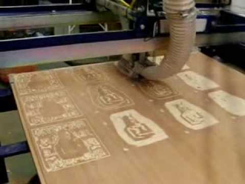 Cnc Machine Carving Woodblocks For Small Multi Block