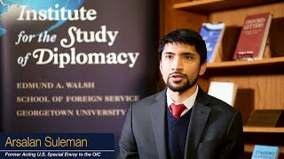 """""""I was able to develop good relationships with professors who encouraged me."""" - Arsalan Suleman"""