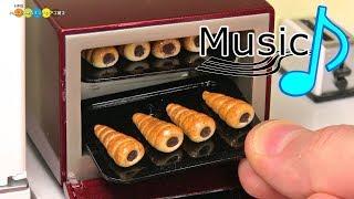 【with music】DIY Miniature Chocolate Cornets (Fake food) ミニチュアチョココロネ作り