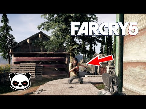 Far Cry 5 Knife Stealth Gameplay | Elk Jaw Lodge Liberated