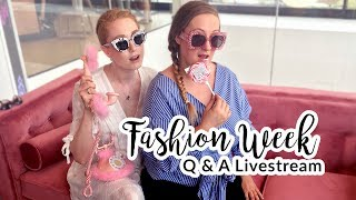 LIVESTREAM Q & A I FASHION WEEK I Advance Your Style