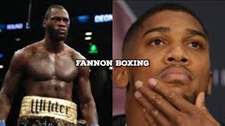 THE REAL REASON FANS THINK ANTHONY JOSHUA IS SCARED OF DEONTAY WILDER