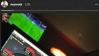 Neymar was playing online poker as PSG reclaimed Ligue 1 by thrashing Monaco... as team-mates