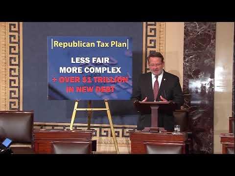 Peters Floor Remarks on Senate Republican Tax Plan