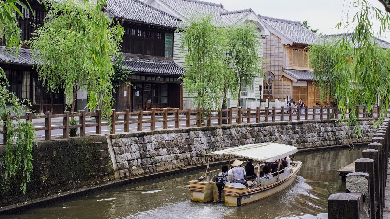 4k ultra hd ������������������ japanese traditional townscape in