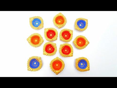 Diya decoration ideas for diwali/ Beautiful Diwali decoration/ DIY/ how to decorate Diya at home