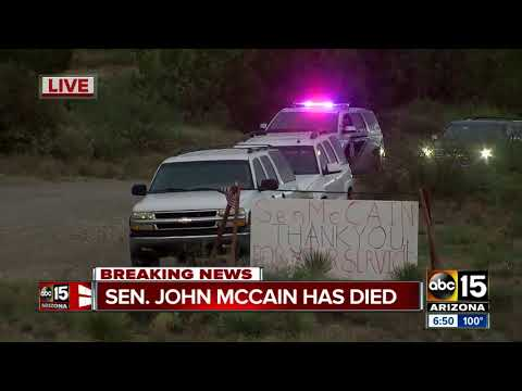 RAW: Procession leaves Sen. McCain's ranch after his death