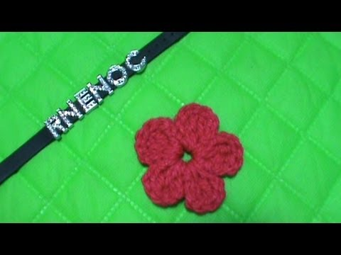 COMO TEJER FLOR SIMPLE GANCHILLO CROCHET (MOÑO, ALAS, TREBOL) - YouTube