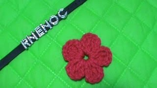 COMO TEJER FLOR SIMPLE GANCHILLO CROCHET (MOÑO, ALAS, TREBOL)