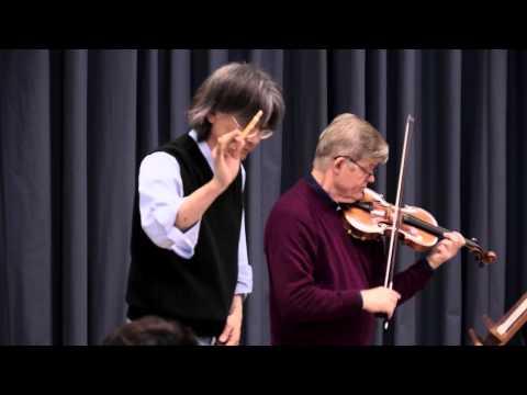 Konzertmeister Bernhard Hartog als Solist