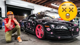 ALEX CHOI SPRAY PAINTING SUPERCAR PRANK GONE TOO FAR? *OWNER IS MAD*
