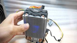 pc cooler s86 cpu cooler 80mm led fan heatpipes heatsink