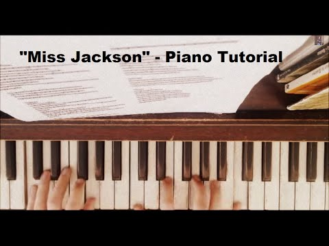 How to play: Miss Jackson by Panic! at the Disco on the Piano - With Sheet Music (Tutorial)