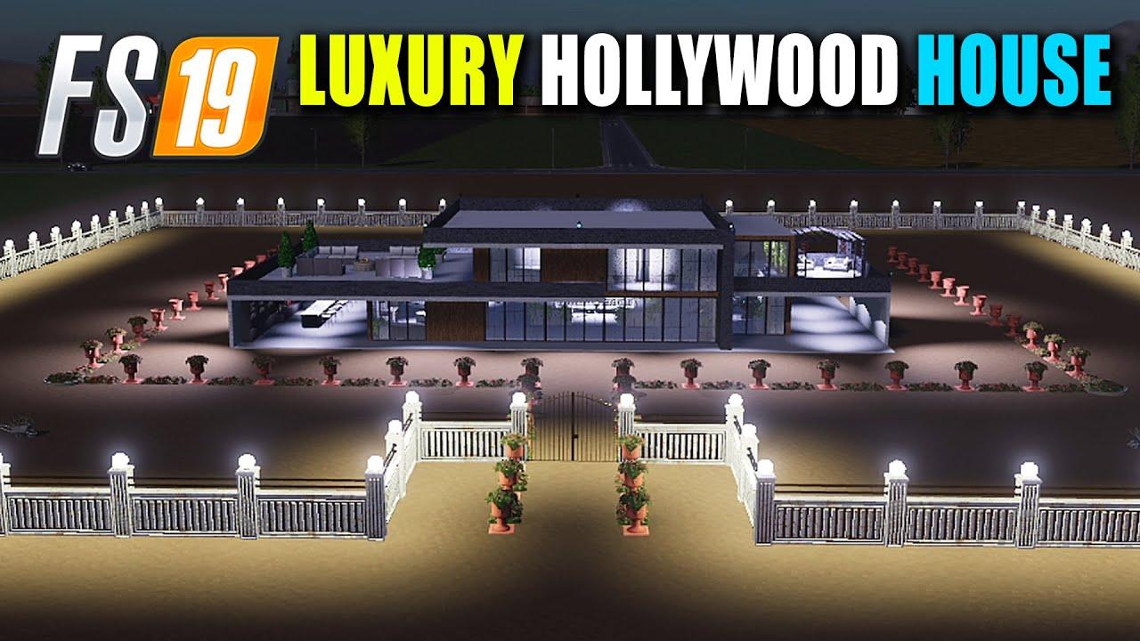 Luxury Hollywood Farmhouse with Luxury Dodge Charger Hellcat Car, FS19 CANADIAN FARM MAP 6