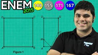 ENEM 2015 Matemática #32 - Simetria e Visualização Geométrica das Bandeirinhas