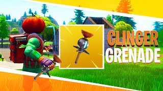 "*NEW* ""CLINGER GRENADE"" in Fortnite: Battle Royale (Sticky Semtex)"