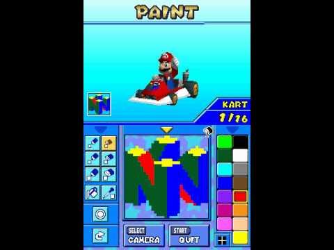 Tas Mario Kart Ds Nintendo 64 Logo Emblem Youtube