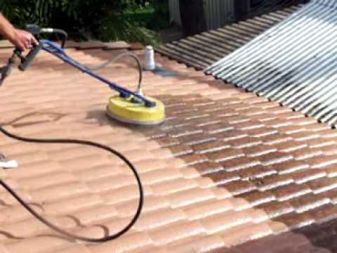 Roof Cleaning Cement Tile Rotory Wash Brisbane