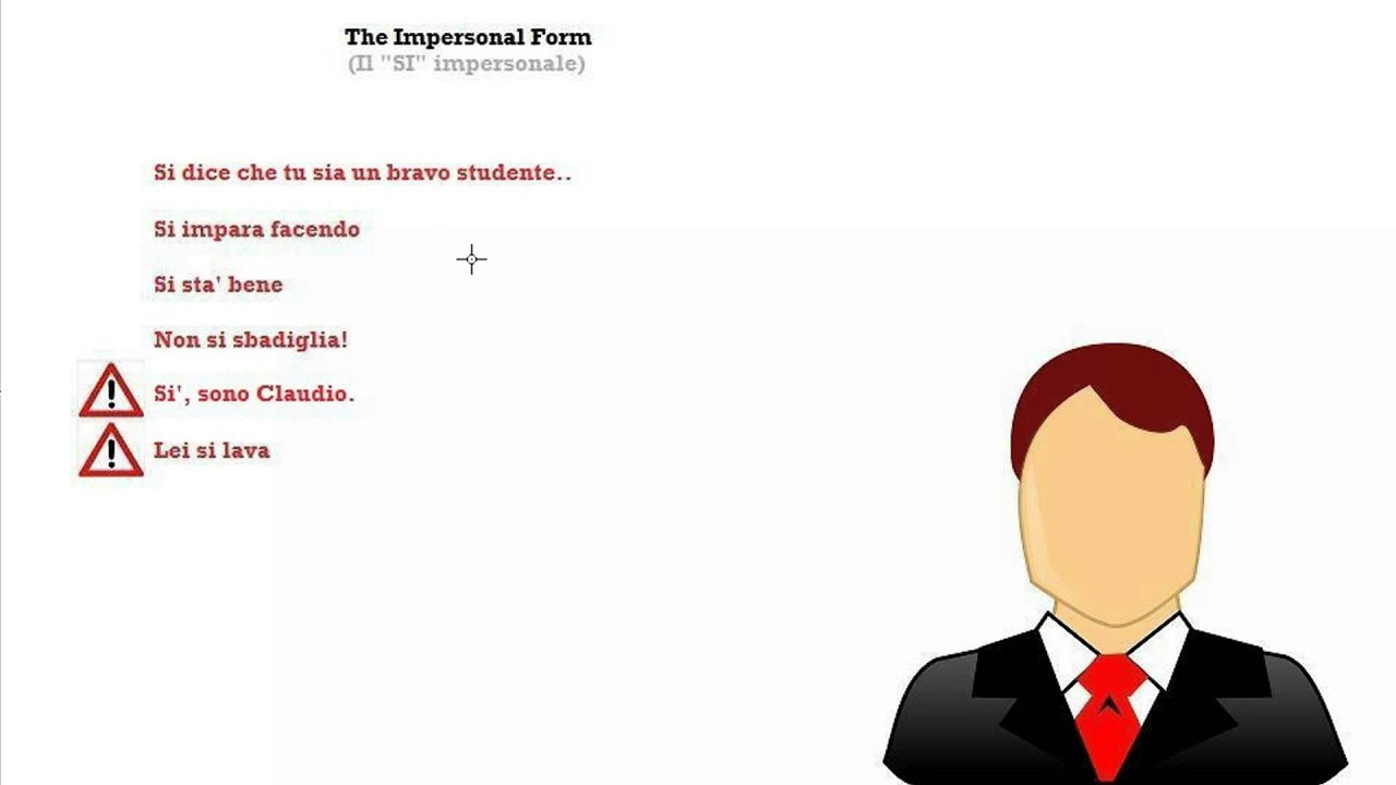 Italian Course Beginner Series 58: The Impersonal Form