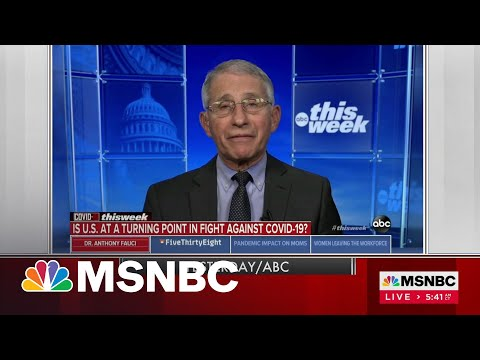 Dr. Anthony Fauci Indicates He's Open To Relaxing Indoor Masking   Morning Joe   MSNBC