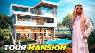 HOUSE TOUR DE LUJO - MANSIÓN  PARA MILLONARIOS EN UN CAMPO DE GOLF DE DUBAI