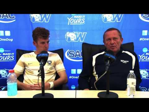 2016 Wingate Men's Soccer - Elite 8 postgame press conference with coach Hamill & Alex Nelson
