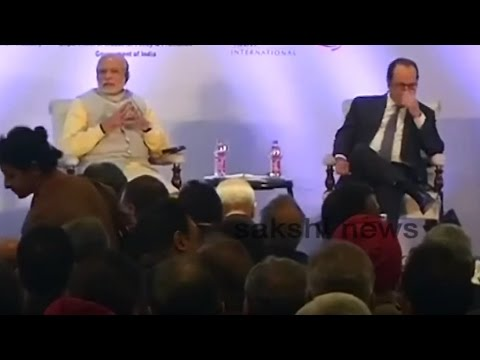modi, hollande in India-France Business Summit in Chandigarh