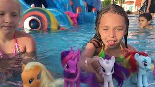 Египет 2016 Пони в аквапарке Прятки с Пони канал Леночки mlp my little pony май литл пони