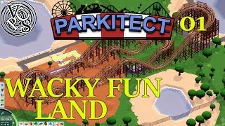 Wacky Fun Land : Parkitect EP01 – Theme Park Simulator – Alpha 13 Gameplay and Commentary
