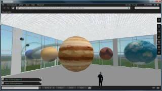 3D virtual solar system model