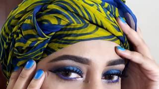 step by step blue smokey eyes for wedding guest makeup_ zainab numan