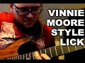 Vinnie Moore Style Lick