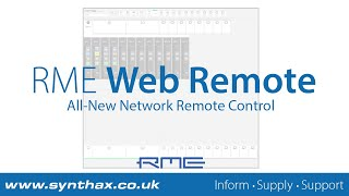 RME Audio Web Remote Tutorial (12Mic, AVB Tool, M-1610 Pro, M-32 Pro AD and DA)
