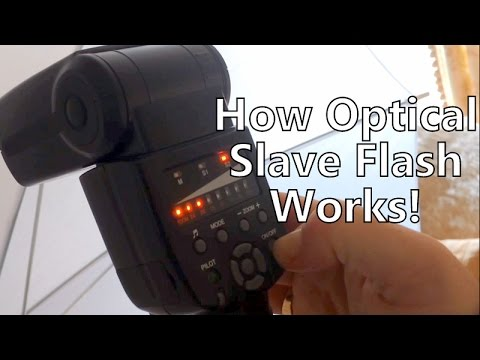 How Off-Camera Wireless Optical Slave Flash Units Work