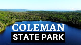 Camping at Coleman State Park in New Hampshire