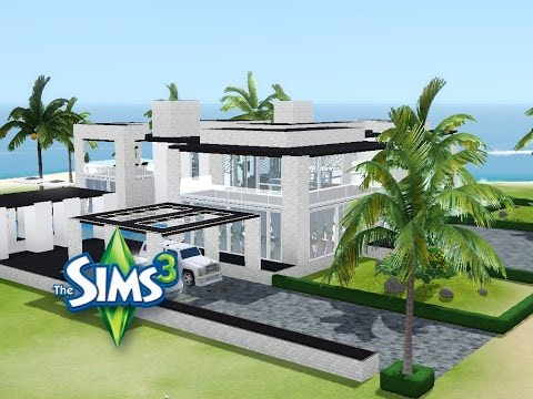 sims 3 haus bauen let 39 s build modernes luxushaus mit gro em pool youtube. Black Bedroom Furniture Sets. Home Design Ideas