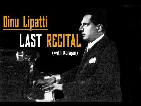 Dinu Lipatti plays Mozart - Piano Concerto No. 21/ LAST RECITAL with orchestra !!! (Karajan)