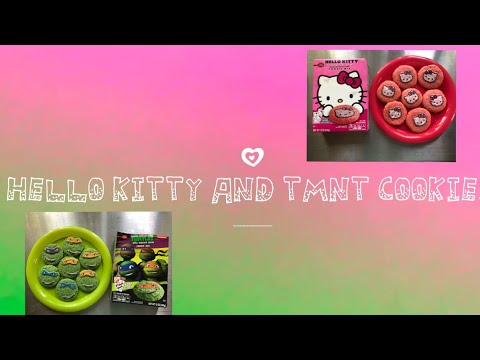 Hello Kitty & TMNT Cookies With Edible Images (8-30-18)