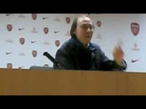 Charlie George at the Emirates Press Conference Room