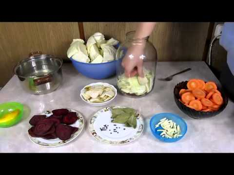 Капуста по грузински со свеклой - рецепт приготовления. Грузинская капуста.