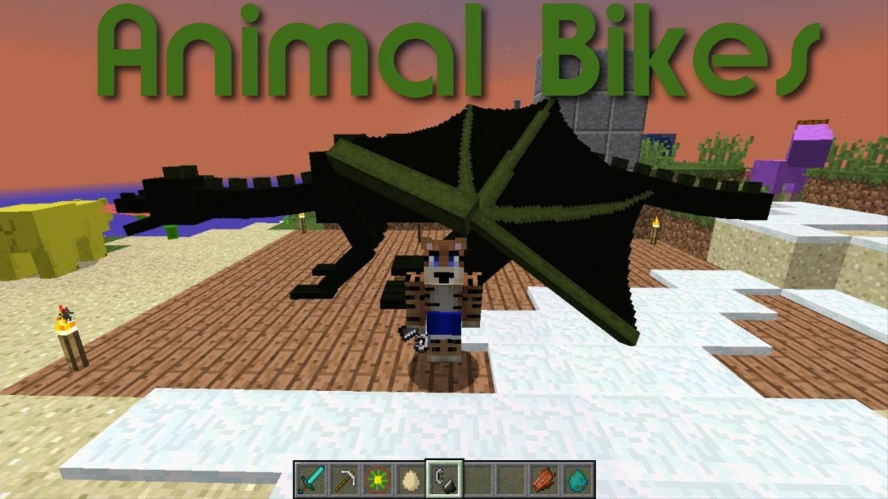 Animal Bikes - Minecraft mod Showcase