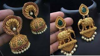 Latest 1 Gram gold jhumkas Designs With - 1 Gram