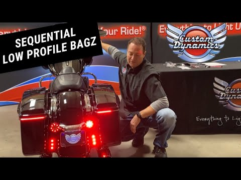 Custom Dynamics Sequential Low Profile Saddlebag Lights for H-D
