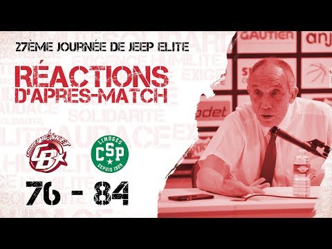 Cholet Basket - Limoges: Réactions d'après-match