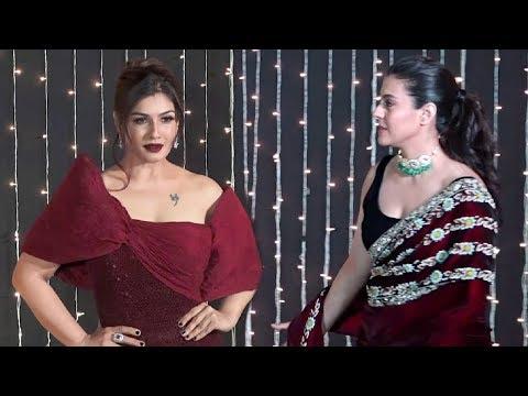 Raveena Tandon And Kajol At Priyanka Chopra Reception Party